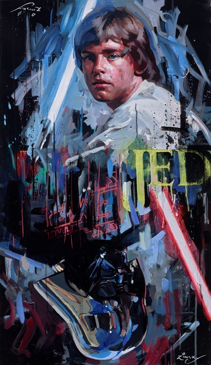 Star Wars by Zinsky -  sized 23x41 inches. Available from Whitewall Galleries